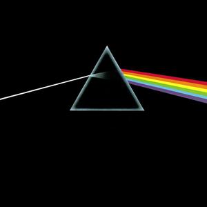 Portada usada por Pink Floyd en Dark Side of the Moon, representando el fenómeno de la creación de líneas espectrales.