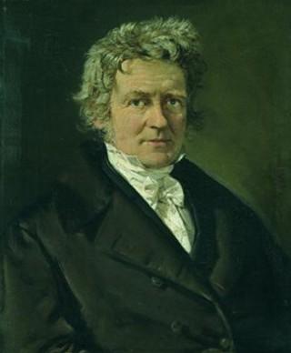 Pintura del año 1839 de Bessel, quien un año antes midiera el primer paralaje estelar de la historia de la astronomía.
