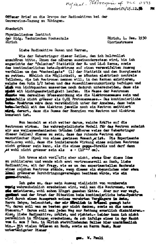 Carta de Pauli