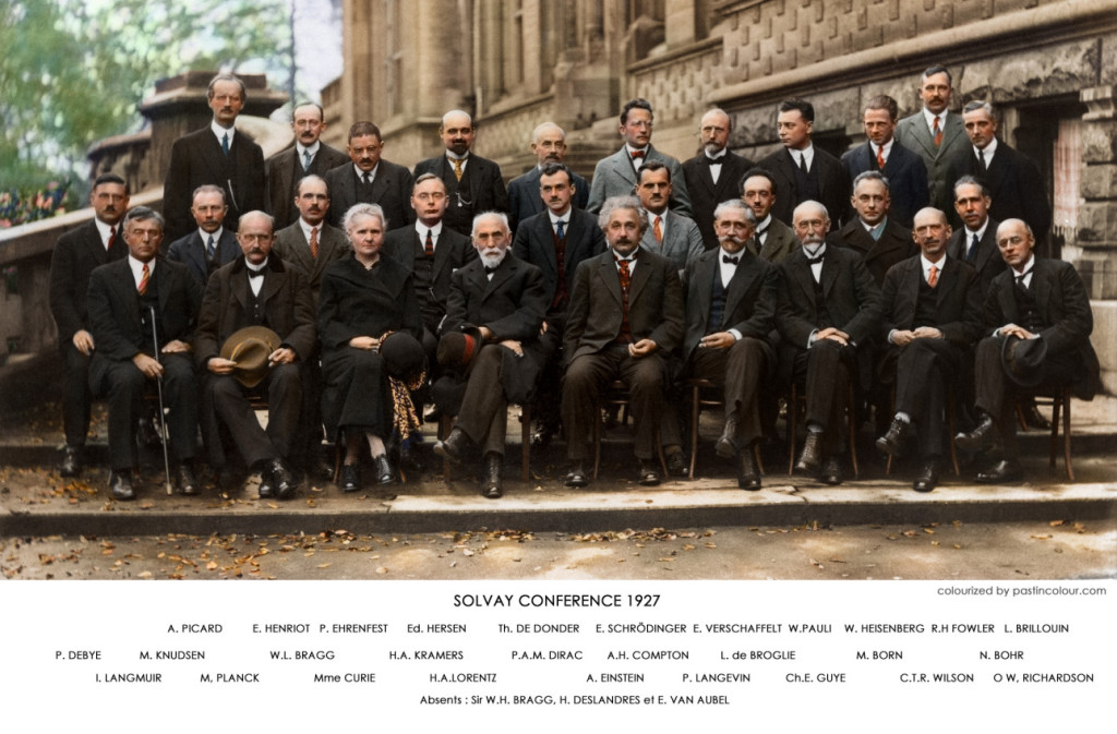 Reunión de los físicos más importantes de la Historia